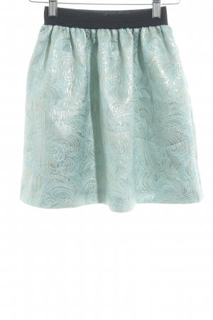 Miss Selfridge Asymmetry Skirt turquoise-gold-colored floral pattern