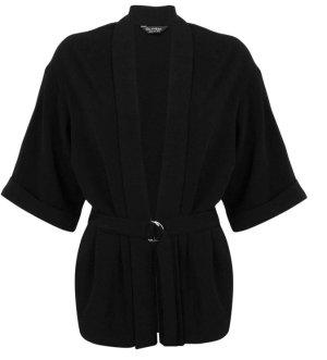 Miss Selfridge Blazer Kardigan Mantel Kimono schwarz 36 (NEU)