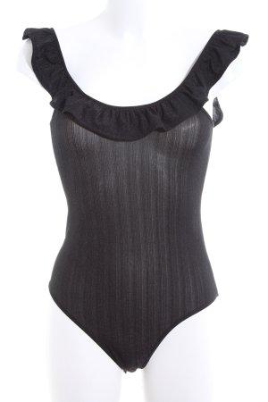 Miss Selfridge Blusa tipo body negro look efecto mojado