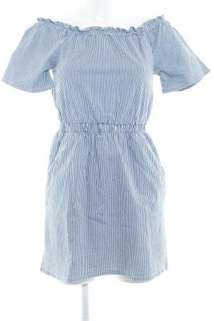 Miss Selfridge Blusenkleid stahlblau-weiß Streifenmuster Casual-Look