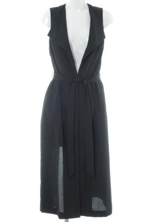 Miss Selfridge bodenlanger Mantel schwarz klassischer Stil