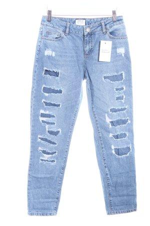 Miss Selfridge Jeans boyfriend blu acciaio-blu scuro stile casual