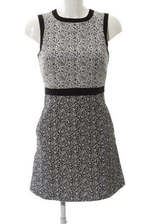 Miss Selfridge Etuikleid schwarz-weiß florales Muster Business-Look