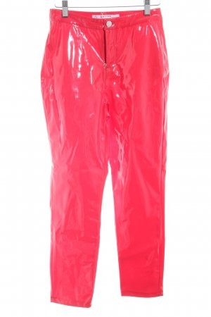Miss Selfridge High Waist Trousers bright red leather-look