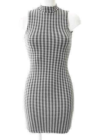 Miss Selfridge Jerseykleid schwarz-weiß Karomuster Casual-Look