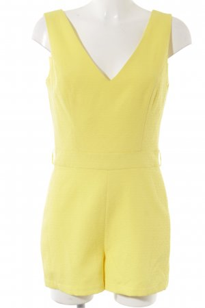 Miss Selfridge Jumpsuit gelb Romantik-Look