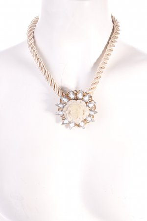 Miss Selfridge Kette creme-goldfarben extravaganter Stil