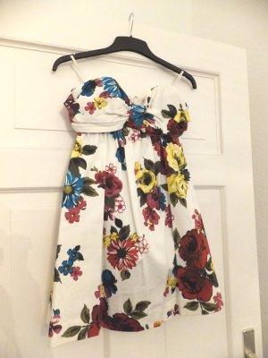 Miss Selfridge Kleid Bandeau Bustier geblümt floral Blumen Babydoll Rarität NEU!