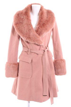 Miss Selfridge Kunstfellmantel pink Business-Look