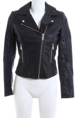 Miss Selfridge Kunstlederjacke schwarz extravaganter Stil