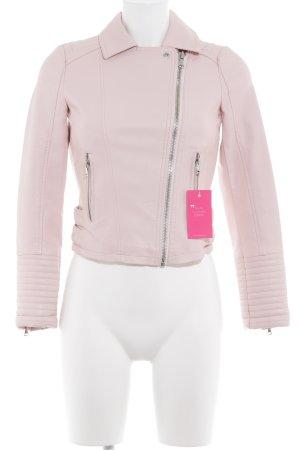 Miss Selfridge Kunstlederjacke rosa Casual-Look