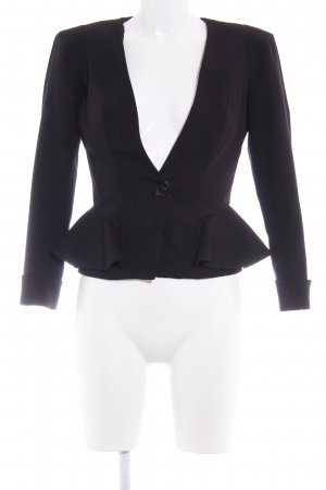 Miss Selfridge Blazer court noir style d'affaires