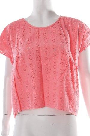 Miss Selfridge Kurzarm-Bluse pink Romantik-Look