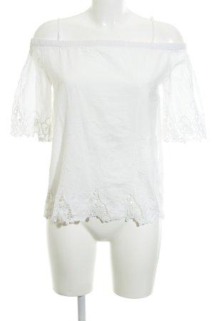 Miss Selfridge Kurzarm-Bluse weiß Street-Fashion-Look