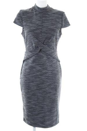 Miss Selfridge Kurzarmkleid schwarz-weiß Streifenmuster Casual-Look