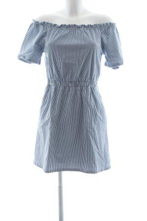 Miss Selfridge Kurzarmkleid stahlblau-weiß Streifenmuster Casual-Look