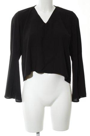 Miss Selfridge Langarm-Bluse schwarz Casual-Look