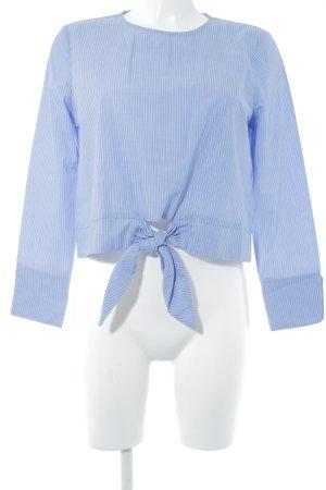 Miss Selfridge Langarm-Bluse himmelblau Nadelstreifen Casual-Look
