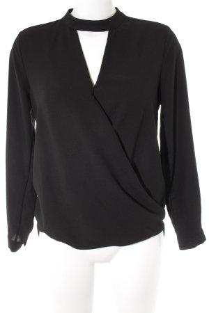 Miss Selfridge Langarm-Bluse schwarz Business-Look
