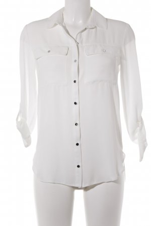 Miss Selfridge Langarm-Bluse weiß Casual-Look