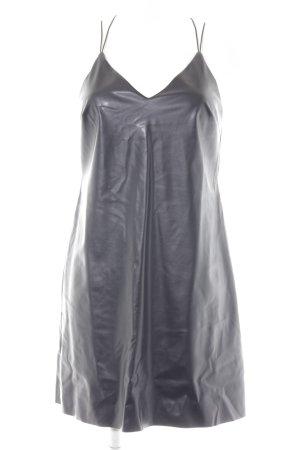 Miss Selfridge Lederkleid schwarz extravaganter Stil