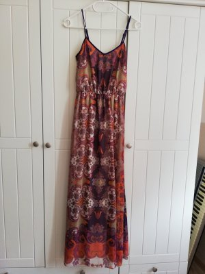 Miss Selfridge Maxikleid Kleid lang Maxi Gr. UK 4 32 XXS ethno hippie Sommerkleid Trägerkleid