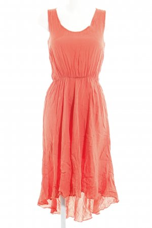 Miss Selfridge Midikleid neonorange Hippie-Look