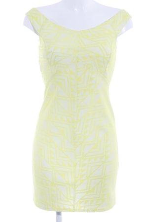 Miss Selfridge Minikleid neongelb abstraktes Muster Party-Look