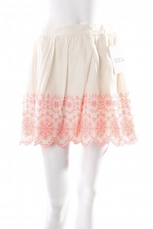 Miss Selfridge Minirock creme-pink Romantik-Look