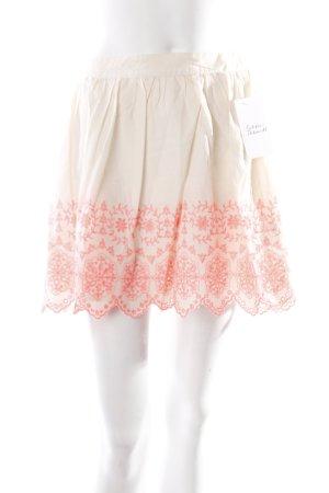Miss Selfridge Minirock creme-pink Romantik-Look