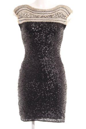 Miss Selfridge Abito con paillettes nero-beige stile festa