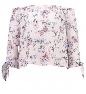Miss Selfridge Carmen blouse rosé