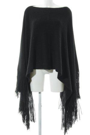 Miss Selfridge Poncho zwart casual uitstraling