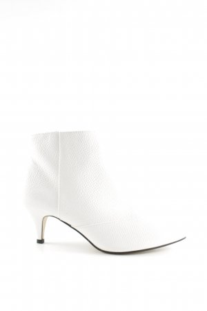 Miss Selfridge Reißverschluss-Stiefeletten weiß Casual-Look
