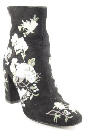 Miss Selfridge Reißverschluss-Stiefeletten florales Muster Elegant