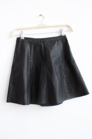 Miss Selfridge Falda de cuero de imitación negro Imitación de cuero