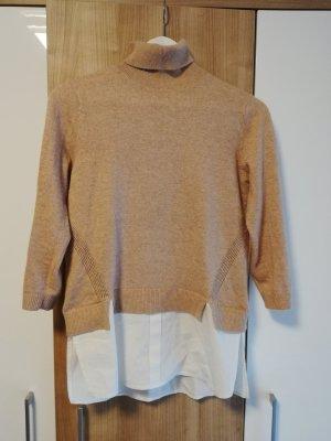 Miss Selfridge Rollkragenpullover mit Hemdeinsatz