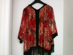 Miss Selfridge Kimono Sweater black-dark red