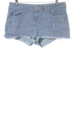 Miss Selfridge Shorts kornblumenblau-weiß Streifenmuster Beach-Look