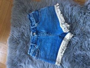 Miss Selfridge Shorts kurze Hose Jeans Shorts 36 38 weiß high waist
