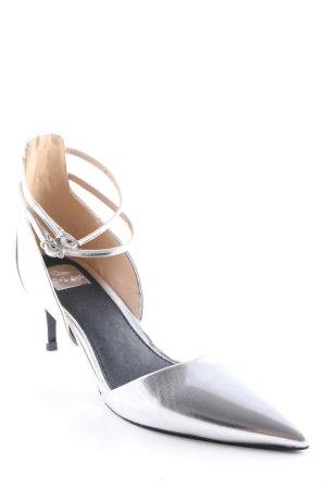 Miss Selfridge Spitz-Pumps silberfarben extravaganter Stil