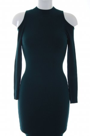 Miss Selfridge Strickkleid petrol Casual-Look