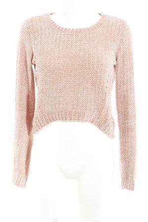 Miss Selfridge Strickpullover apricot Lochstrickmuster Street-Fashion-Look