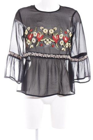 Miss Selfridge Transparenz-Bluse Blumenmuster Casual-Look