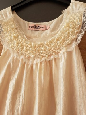 Miss Selfridge Tunika Kleid Champagne Gr. 36/UK 10