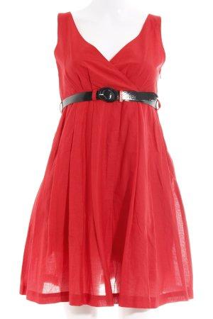 Miss Sixty A-Linien Kleid rot Romantik-Look