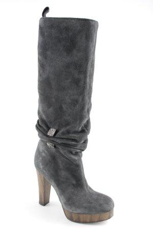 Miss Sixty Absatz Stiefel dunkelgrau klassischer Stil