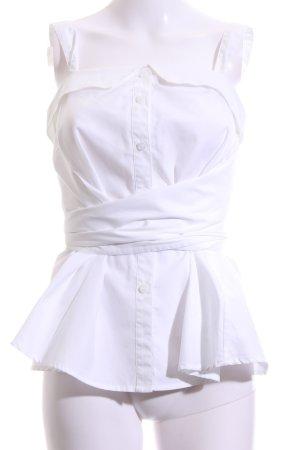 Miss Sixty ärmellose Bluse weiß Casual-Look