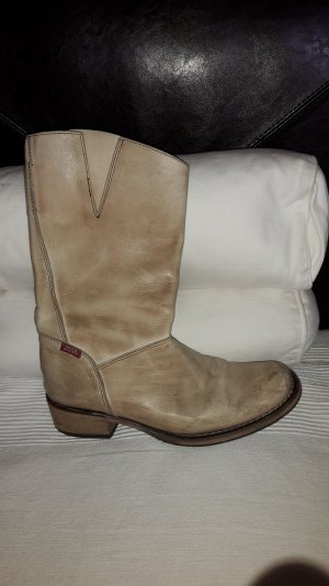 Miss Sixty Riding Boots oatmeal-beige leather