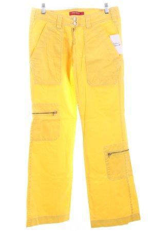 Miss Sixty Boot Cut Jeans blassgelb Casual-Look
